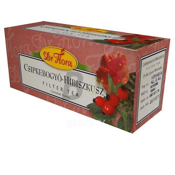 Dr.flora csipke-hibiszkusz tea 25 filter (25 filter) ML015463-38-7
