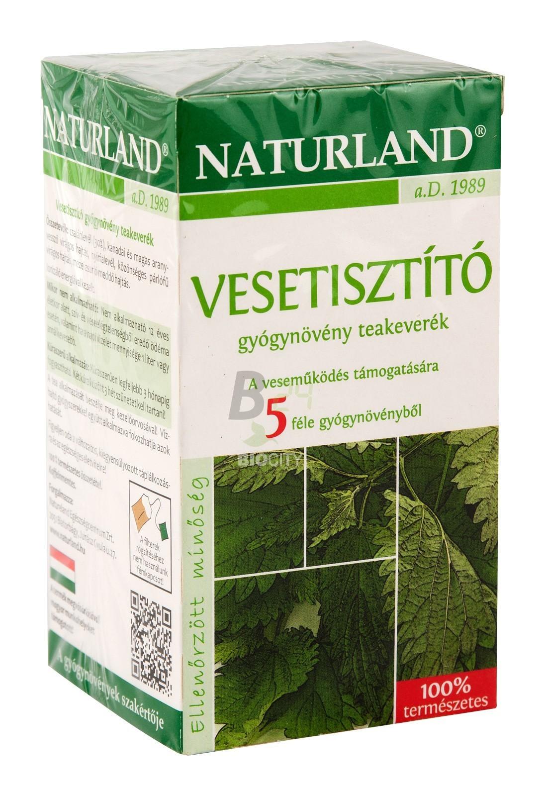 Naturland vesetisztító tea 20 filteres (20 filter) ML062557-13-5