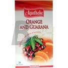 Apotheke narancs-guarana tea (20 filter) ML059591-38-6